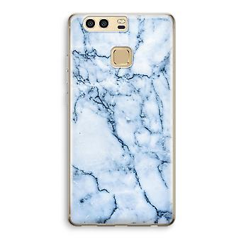 Huawei P9 Transparent Case (Soft) - Blue marble