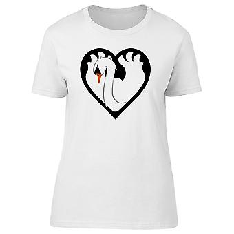 Swan In A Heart Shape Tee Women's -Image by Shutterstock