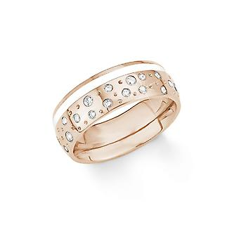 s.Oliver jewel ladies ring stainless steel Rosé Zirkonia 201255