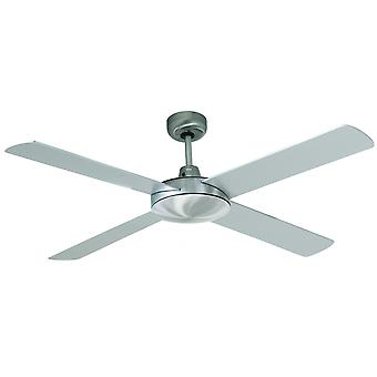 Ceiling Fan Futura Chrome brushed / Silver 132 cm / 52