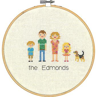 All In The Family Counted Cross Stitch Kit-8
