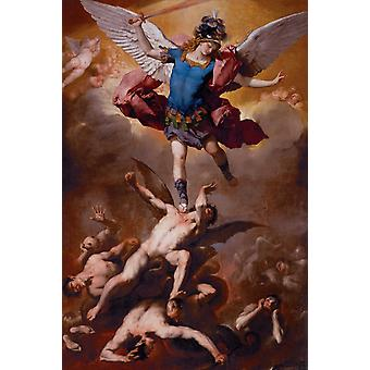 The Fall of the Rebel Angels, Luca Giordano, 40x60cm with tray