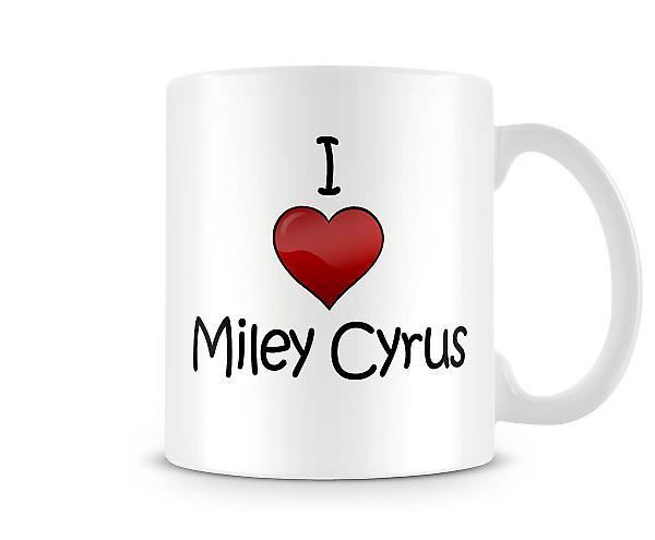 Miley Cyrus imprimé J'aime la tasse