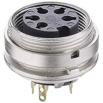 DIN connector Socket, vertical vertical Number of pins: 8 Silver Lumberg KGV 81 1 pc(s)