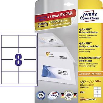 Zweckform Avery etiquetas 4782 97 x 67,7 mm papel Whi