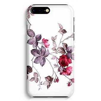 iPhone 8 に加えて、フル印刷ケース (光沢のある) - きれいな花
