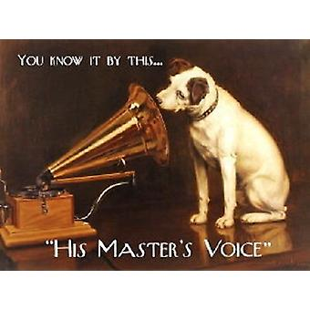His Masters Voice You Know It By This Small Steel Sign 200Mm X 150Mm