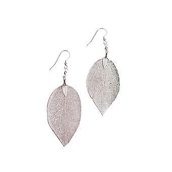 Gemshine Damen Ohrringe 925 Sterling Silber Blatt Rose Natur 7 cm