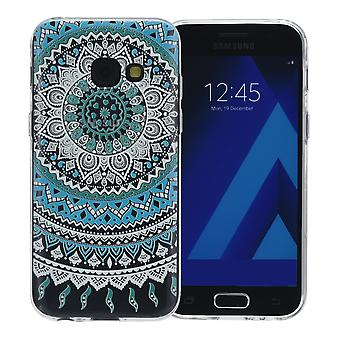 Henna cover for Samsung Galaxy A8 2018 case protective cover silicone Sun blue