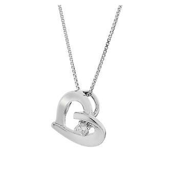 Orphelia sølv 925 vedhæng med kæde hjerte med 1 Zirconium