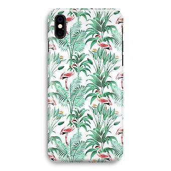 iPhonegeval XS volledige Print (Glossy) - Flamingo bladeren