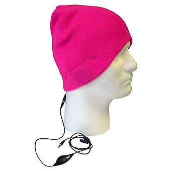 Boss Tech Stereo Tech Knit Hat with Built-In Handsfree (Pink)