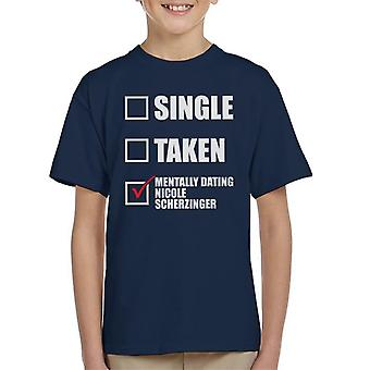 Mentally Dating Nicole Scherzinger Kid's T-Shirt