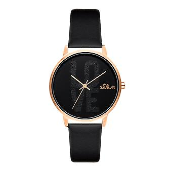 s.Oliver women's watch wristwatch leather SO-3580-LQ