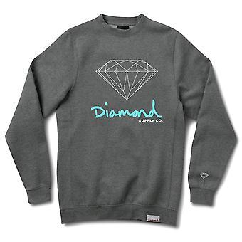 Diamond Supply Co Og Zeichen Crewneck Charcoal Heather