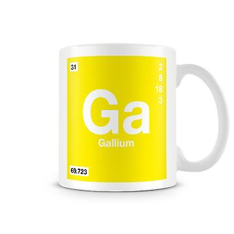 Scientific Printed Mug Featuring Element Symbol 031 Ga - Gallium