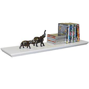 Oliver - Bevelled 3ft / 91cm Floating Wall Shelf - White