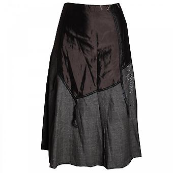 Tuzzi Women's Contrast Fabric Split Skirt