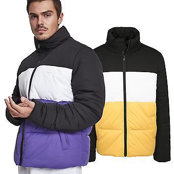 Stedelijke klassiekers - 3-tone boxy buffer gewatteerde winter jas