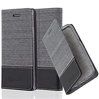 Caso Cadorabo para Huawei P7 - caso móvel com função de suporte e compartimento no design da tela - capa case luva bolsa saco livro