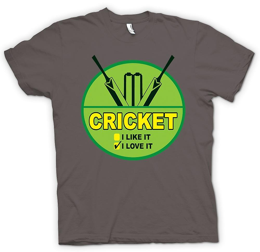 Heren T-shirt - Cricket I Love It - Funny