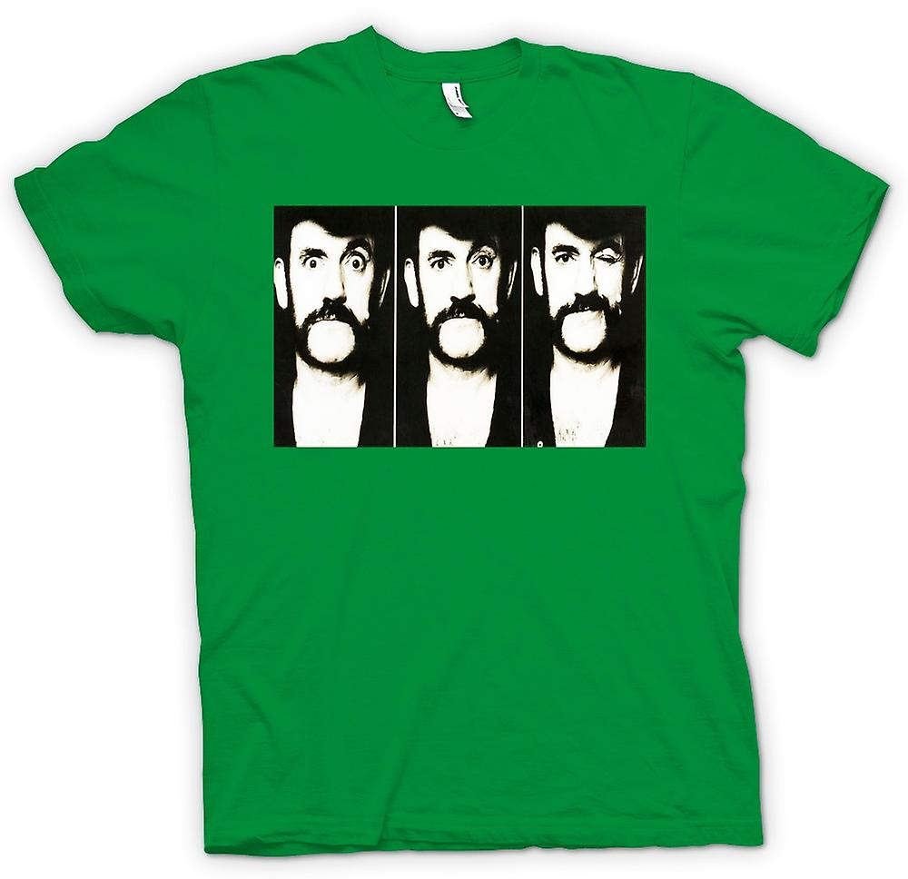Mens T-shirt - Lemmy - Motorhead - BW - Photo Slide