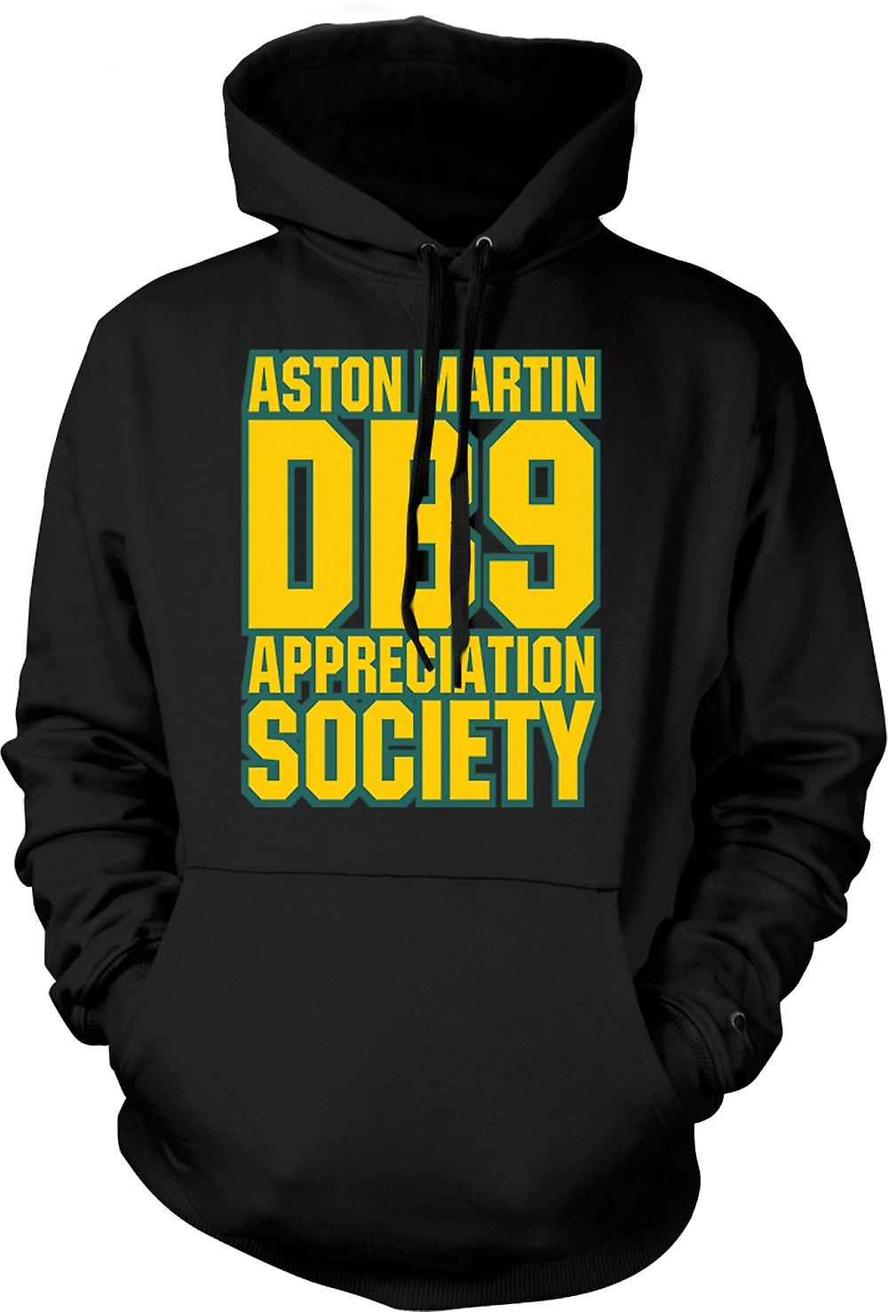Mens Hoodie - Aston Martin DB9 Appreciation Society
