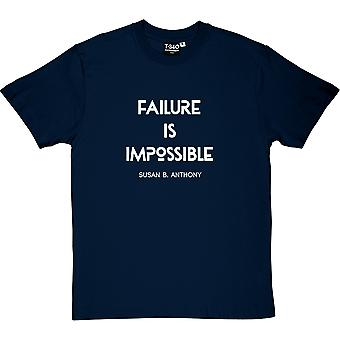 Susan B. Anthony Failure Is Impossible Quote Men's T-Shirt
