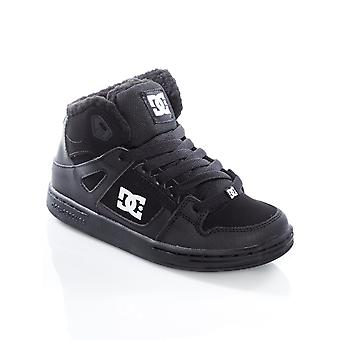 DC Black-Black-White Pure Winterized Kids Hi Top Shoe