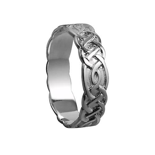 18ct white gold 6mm Celtic Wedding Ring