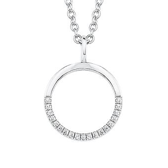 s.Oliver jewel ladies necklace-silver cubic zirconia circle 2018677