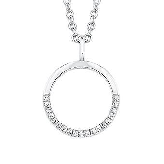 s.Oliver juvel damer halskæde-sølv cubic zirconia cirkel 2018677