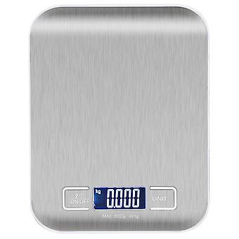 TRIXES High Precision Metallic Blue Digital Touch Kitchen Scales Slim Design Weighing Food Preparation Aid