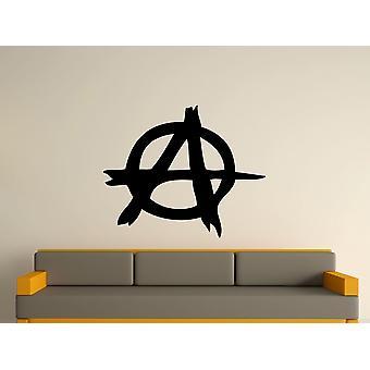 Anarchy Symbol Wall Art Sticker - Black