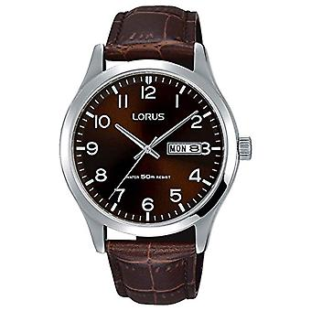 Lorus Quartz Analog Mens watch with leather RXN41DX9