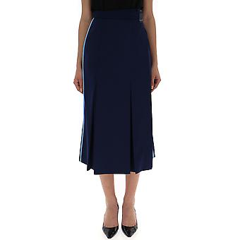 Falda de algodón azul de Prada