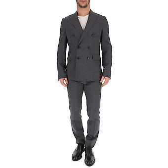 Dsquared2 Grey Wool Suit
