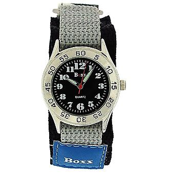Boxx Blue - Grey Army Camouflage Easy Fasten Strap Childrens Boys Sports Watch