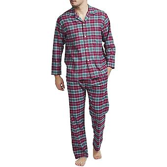 British Boxers Brunello Red Check Men's Pyjama Set