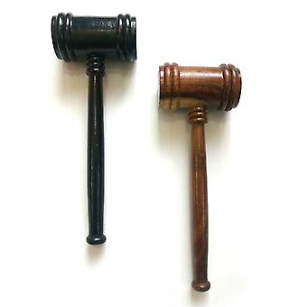 Wooden Handcrafted Gavel [Black & Brown]