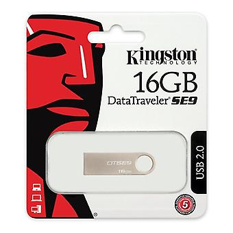 Pendrive Kingston FAELAP0171 DTSE9H 16 GB USB 2.0 Silber Metall