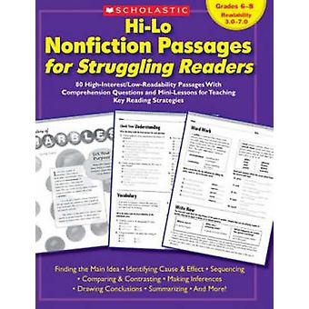 Hi-Lo Nonfiction Passages for Struggling Readers - Grades 6-8 - 80 High