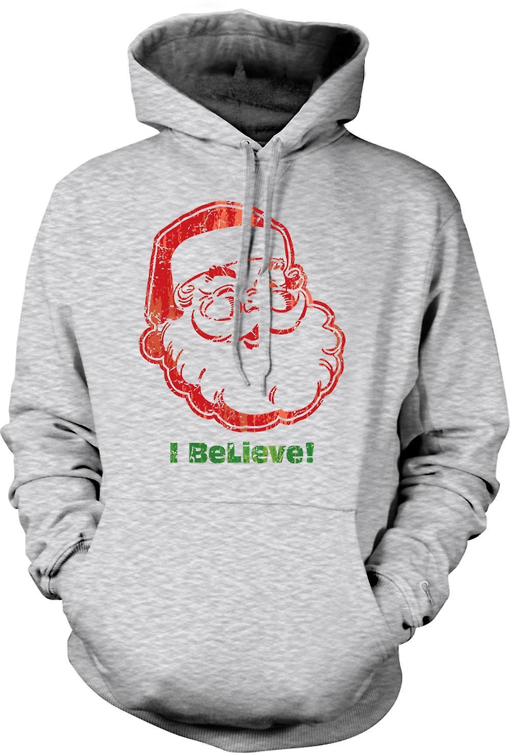 Mens-Hoodie - Santa - glaube ich