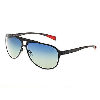 Breed Apollo Titanium and Carbon Fiber Polarized Sunglasses - Black/Blue