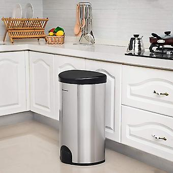 Stainless steel/plastic electronic sensor trash with foot control-50l