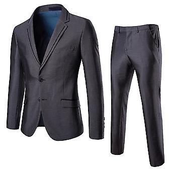 Allthemen Mens 2pcs Silm fit Solid Suit( Blazer &Pants )