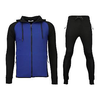 Tracksuits Windrunner Basic Ribbed-Black/Blue