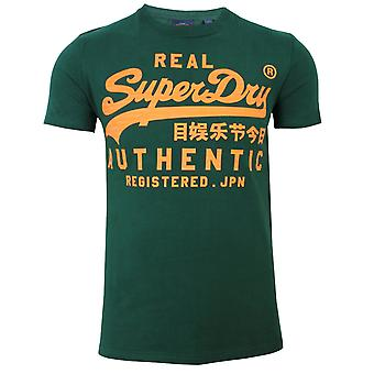 Superdry vintage authentic men's green t-shirt