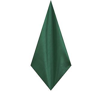 Dobell Mens Racing Green Pocket Square Handkerchief Dupion Satin-Feel Fabric