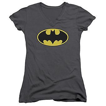 Batman klassieke Bat Logo vrouw grijs v-hals Shirt